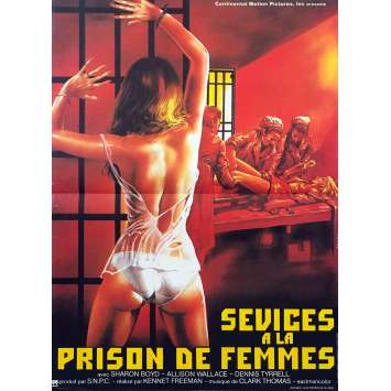 HELL PENITENCIARY Original Movie Poster - 15x21 in. - 1984 - Gianni Siragusa, Ajita Wilson