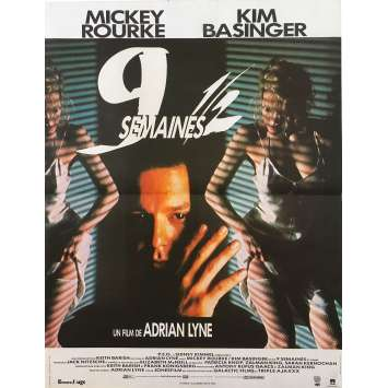 NINE 1/2 WEEKS Original Movie Poster - 15x21 in. - 1986 - Adrian Lyne, Kim Bassinger