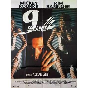 NINE 1/2 WEEKS Original Movie Poster - 47x63 in. - 1986 - Adrian Lyne, Kim Bassinger