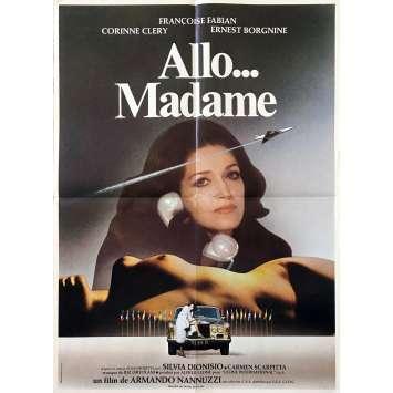 ALLO MADAME Affiche de film - 60x80 cm. - 1976 - Ernest Borgnine, Françoise Fabian, Armando Nannuzzi