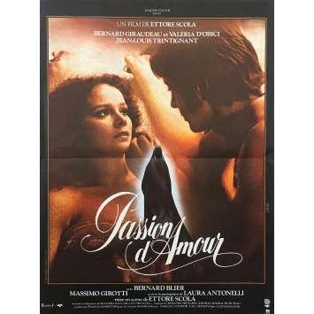 PASSION OF LOVE Original Movie Poster - 15x21 in. - 1981 - Ettore Scola, Bernard Giraudeau,