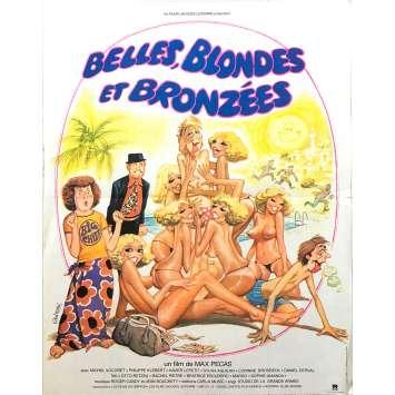 BELLES BLONDES ET BRONZEES Affiche de film - 40x60 cm. - 1981 - Philippe Klébert, Max Pécas