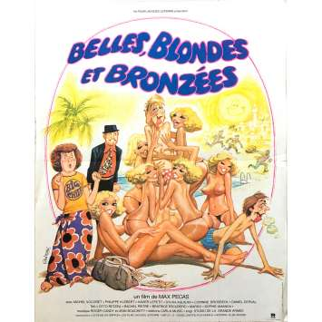 BELLES BLONDES ET BRONZEES Original Movie Poster - 15x21 in. - 1981 - Max Pécas, Philippe Klébert