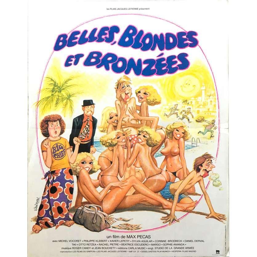 BELLES BLONDES ET BRONZEES Original Movie Poster - 15x21 in. - 1981 - Max Pécas, Philippe Klébert