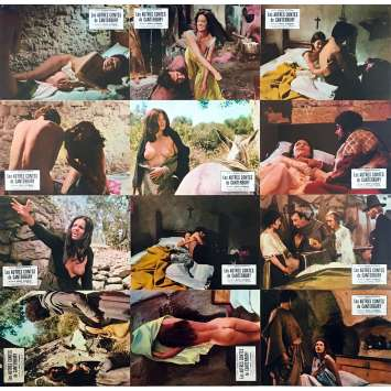 THE OTHER CANTERBURY TALES Original Lobby Cards x12 - 9x12 in. - 1972 - Mino Guerrini, Enza Sbordone