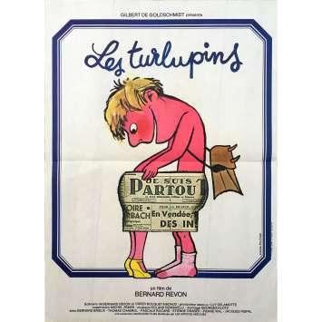 LES TURLUPINS Affiche de film - 40x60 cm. - 1980 - Bernard Brieux, Bernard Revon