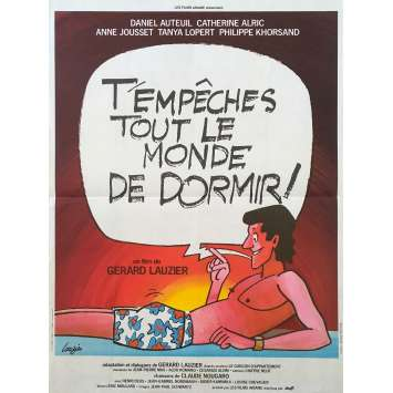 KEEPING EVERYONE UP Original Movie Poster - 15x21 in. - 1982 - Gérard Lauzier, Daniel Auteuil