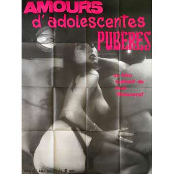AMOUR D'ADOLESCENTES Original Movie Poster - 47x63 in. - 1980 - José Bénazéraf, Chantal Fourquet