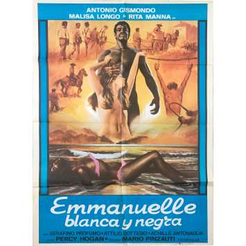BLACK EMMANUELLE WHITE EMMANUELLE Original Movie Poster - 29x40 in. - 1976 - Mario Pinzauti, Malisa Longo