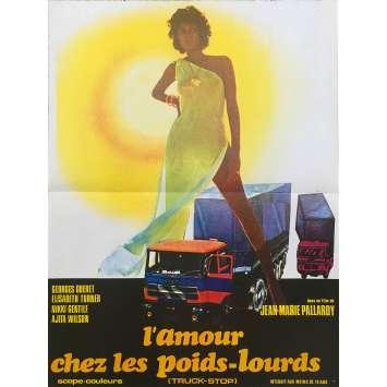 L'AMOUR CHEZ LES POIDS LOURDS Original Movie Poster - 15x21 in. - 1978 - Jean-Marie Pallardy, Georges Géret