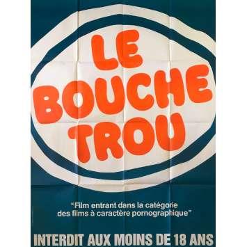 LE BOUCHE TROU Original Movie Poster - 47x63 in. - 1978 - Jean-Claude Roy, Hélène Chevalier