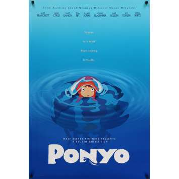 PONYO ON THE CLIFF Original Movie Poster - 27x40 in. - 2008 - Studio Ghibli, Hayao Miyazaki