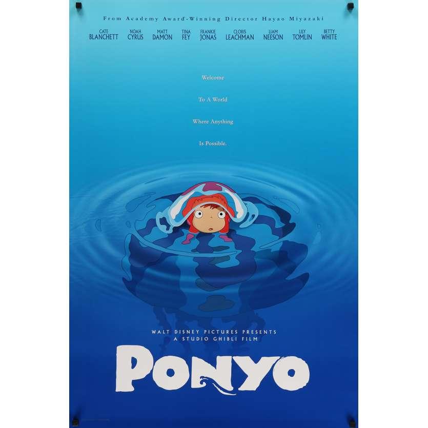 PONYO ON THE CLIFF Original Movie Poster - 27x40 in. - 2008 - Studio Ghibli, Hayao Miyazaki