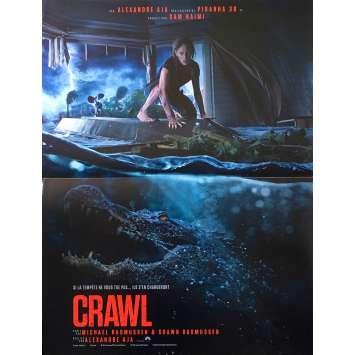 CRAWL Original Movie Poster - 15x21 in. - 2019 - Alexandre Aja, Kaya Scodelario