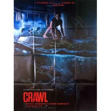 CRAWL Affiche de film - 120x160 cm. - 2019 - Kaya Scodelario, Alexandre Aja