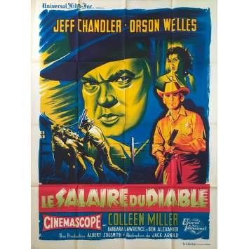 LE SALAIRE DU DIABLE Affiche de film - 120x160 cm. - 1957 - Orson Welles, Jack Arnold