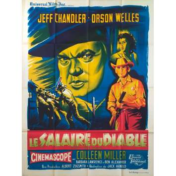 THE MAN IN THE SHADOW / PAY THE DEVIL Original Movie Poster - 47x63 in. - 1957 - Jack Arnold, Orson Welles