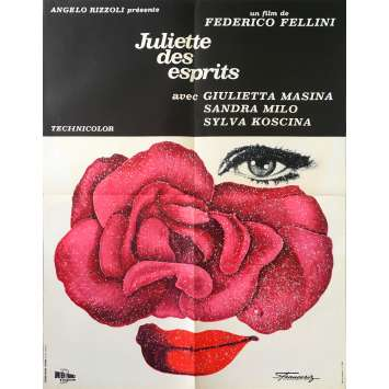 JULIET OF THE SPIRITS Original Movie Poster - 23x32 in. - 1965 - Federico Fellini, Giulietta Masina