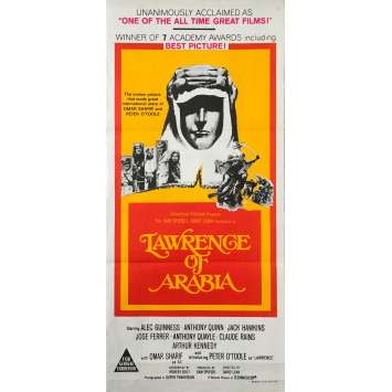 LAWRENCE D'ARABIE Affiche de film - 33x78 cm. - R1970 - Peter O'Toole, David Lean