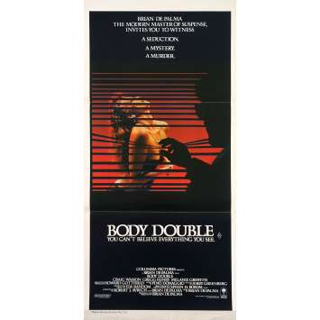 BODY DOUBLE Affiche de film - 33x78 cm. - 1984 - Melanie Griffith, Brian de Palma