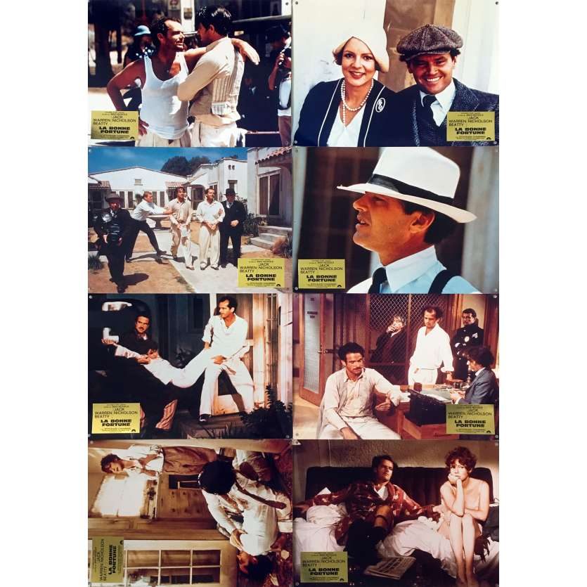 THE FORTUNE Original Lobby Cards x8 - 12x15 in. - 1975 - Mike Nichols, Jack Nicholson