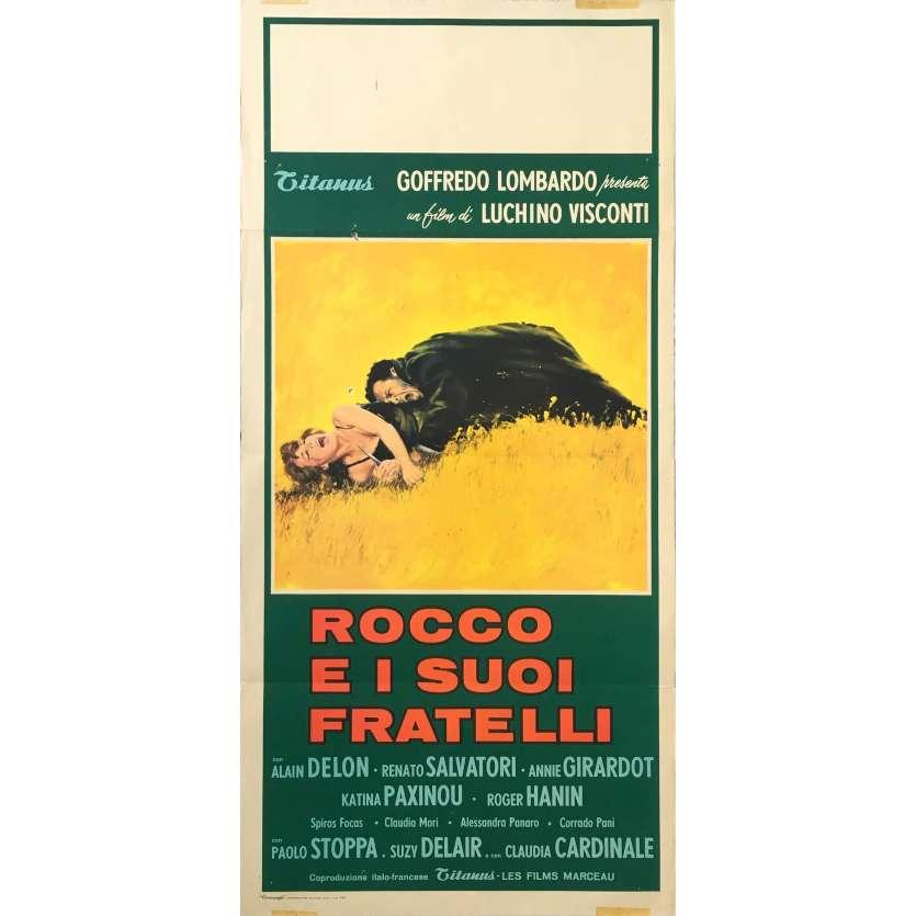 ROCCO ET SES FRERES Affiche de film - 33x71 cm. - 1960 - Alain Delon, Luchino Visconti
