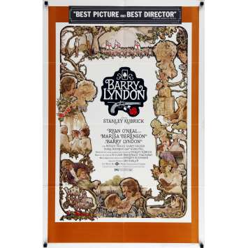 BARRY LYNDON Affiche de film - 69x102 cm. - 1976 - Ryan O'Neil, Stanley Kubrick