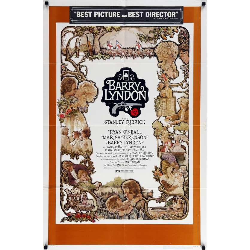 BARRY LYNDON Original Movie Poster - 27x40 in. - 1976 - Stanley Kubrick, Ryan O'Neil