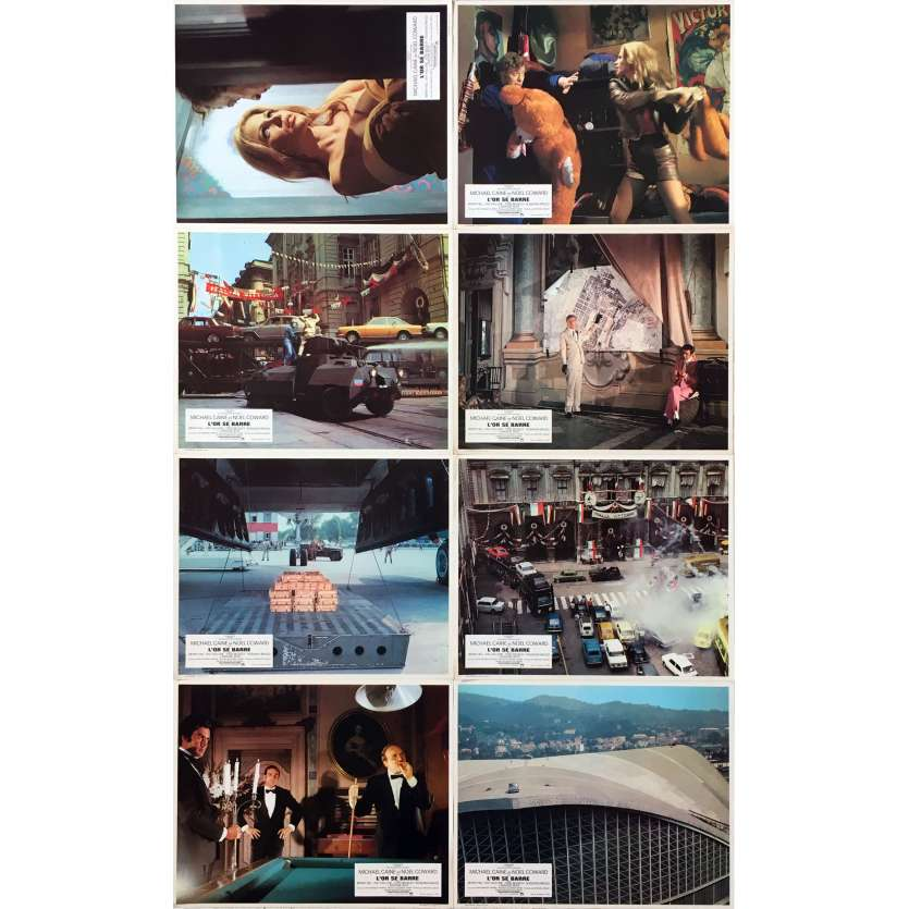 THE ITALIAN JOB Original Lobby Cards x8 - Set A - 9x12 in. - 1969 - Peter Collinson, Michael Caine