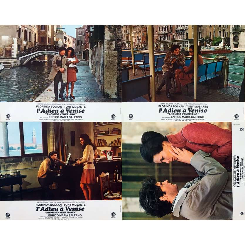 THE ANONYMOUS VENETIAN Original Lobby Cards x4 - 9x12 in. - 1970 - Enrico Maria Salerno, Tony Musante