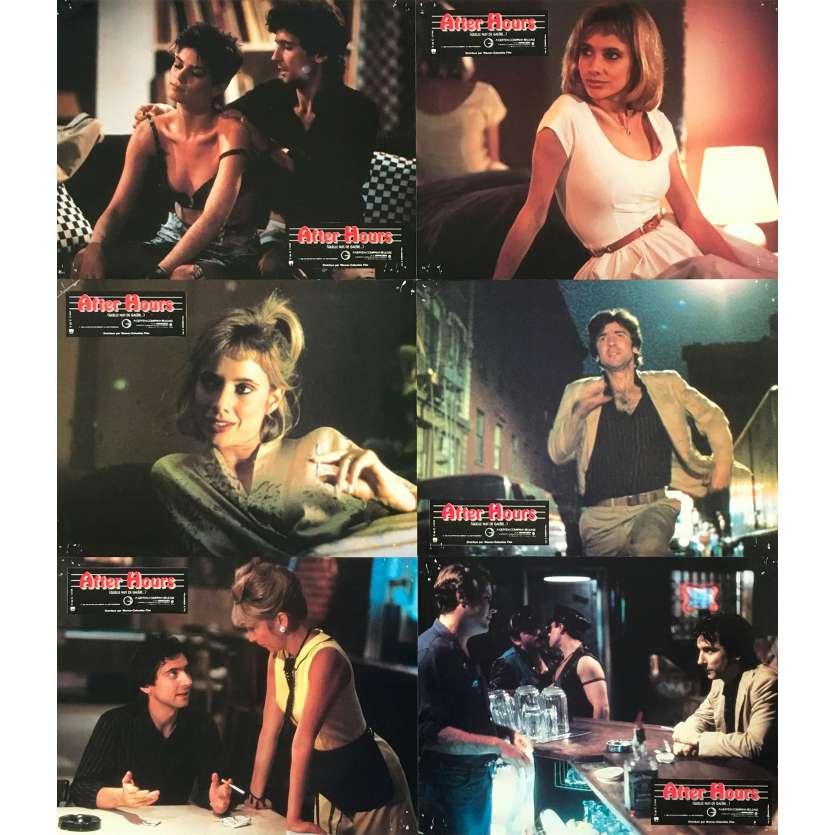 AFTER HOURS Original Lobby Cards x6 - 9x12 in. - 1985 - Martin Scorsese, Griffin Dunne