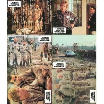 BRUBAKER Photos de film x6 - 21x30 cm. - 1980 - Robert Redford, Stuart Rosenberg