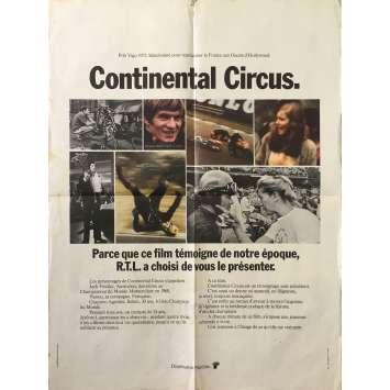 CONTINENTAL CIRCUS Affiche de film - 60x80 cm. - 1971 - Jack Findlay, Jérôme Laperrousaz