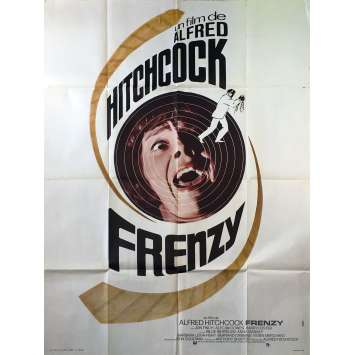 FRENZY Original Movie Poster - 47x63 in. - 1972 - Alfred Hitchcock, Jon Finch