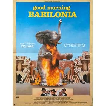 GOOD MORNING BABYLON Original Movie Poster - 15x21 in. - 1987 - Paolo & Vittorio Taviani, Vincent Spano