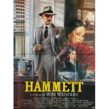 HAMMETT Affiche de film - 120x160 cm. - 1982 - Frederic Forrest, Wim Wenders