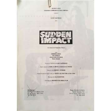 SUDDEN IMPACT Original Pressbook - 9x12 in. - 1983 - Clint Eastwood, Sondra Locke