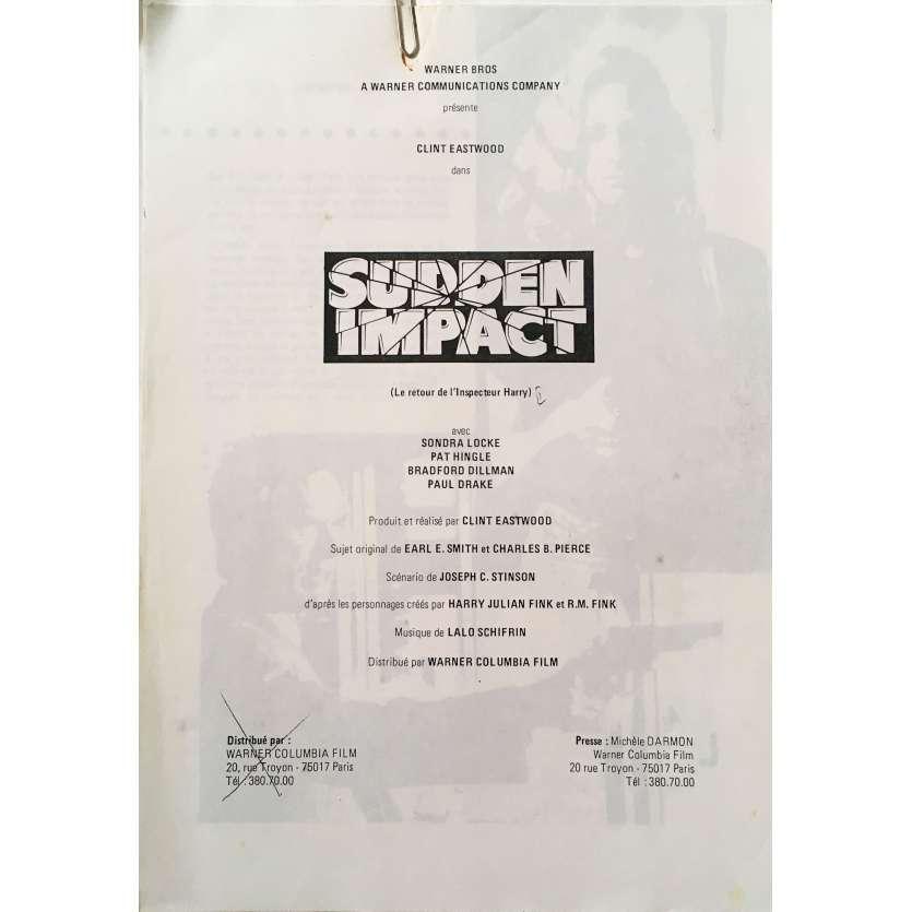 SUDDEN IMPACT Original Pressbook - 9x12 in. - 1983 - Clint Eastwood, Sondra Locke