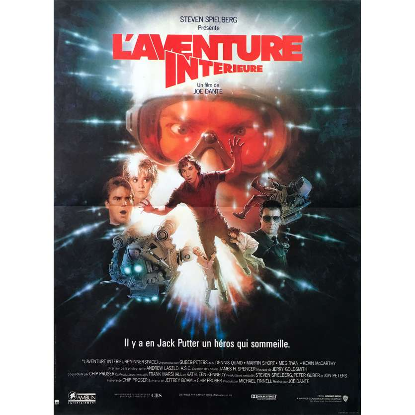 L'AVENTURE INTERIEURE Affiche de film 40x60 - 1987 - Dennis Quaid, Joe Dante