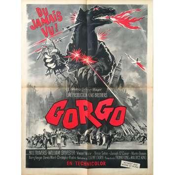 GORGO Affiche de film 60x80 - 1961 - Bill Travers, Eugene Lourié