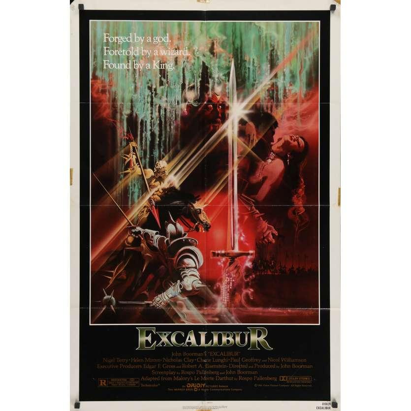 EXCALIBUR US Movie Poster 29x41 - 1981 - John Boorman, Nigel Terry, Helen Mirren