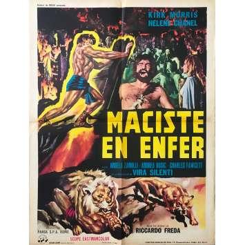 MACISTE EN ENFER Affiche de film 60x80 cm - 1962 - Kirk Morris, Riccardo Fredda