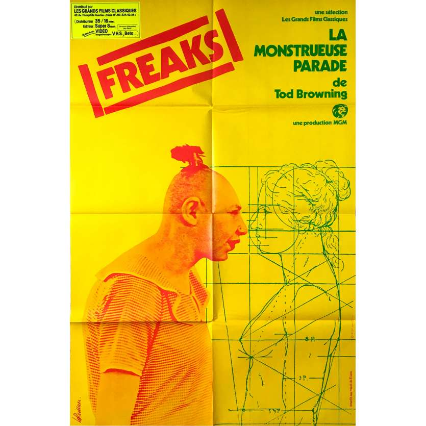 FREAKS Original Movie Poster - 32x47 in. - R1970 - Tod Browning, Wallace Ford