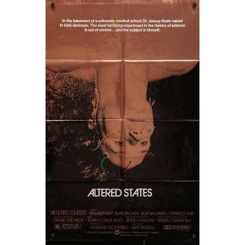 AU DELA DU REEL Affiche de film - 69x102 cm. - 1980 - William Hurt, Ken Russel