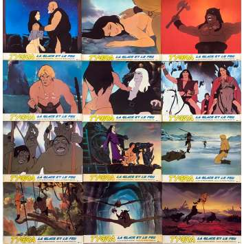 FIRE AND ICE Original Lobby Cards x12 - 10x12 in. - 1983 - Ralph Bakshi, Randy Norton
