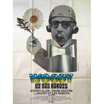 WOODY ET LES ROBOTS Affiche de film - 120x160 cm. - 1973 - Diane Keaton, Woody Allen