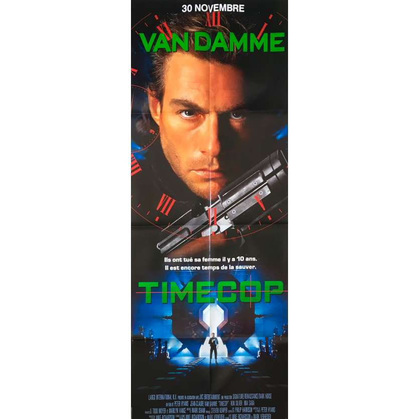 TIMECOP Original Movie Poster - 23x63 in. - 1994 - Peter Hyams, Jean-Claude Van Damme