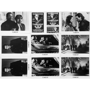 TIMECOP Photos de presse x9 - 18x24 cm. - 1994 - Jean-Claude Van Damme, Peter Hyams