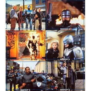 ROBOCOP 3 Photos de film x6 - 21x30 cm. - 1993 - Nancy Allen, Fred Dekker