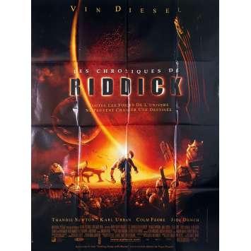 LES CHRONIQUES DE RIDDICK Affiche de film - 120x160 cm. - 2004 - Vin Diesel, David Twohy